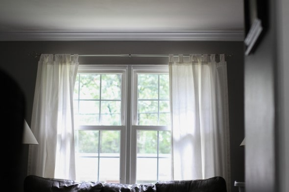 living room curtains too low