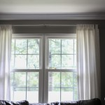 living room curtains hung higher