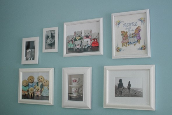 gallery wall of favorite things