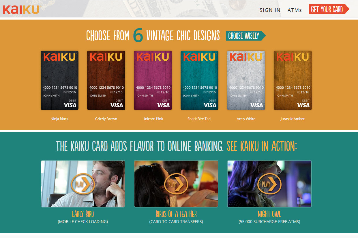 on low fee prepaid cards vs free bank accounts the frugal girl - Kaiku Visa Prepaid Card