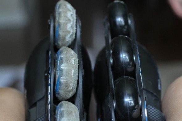 used-up rollerblade wheels