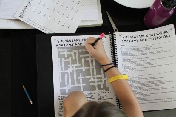 homeschool crossword