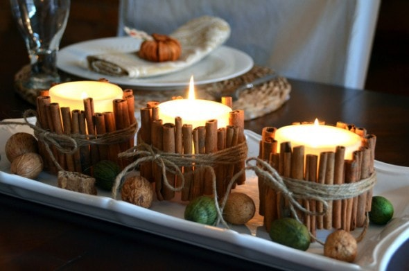 10 Classy Fall Crafts - Cinnamon Stick Candles