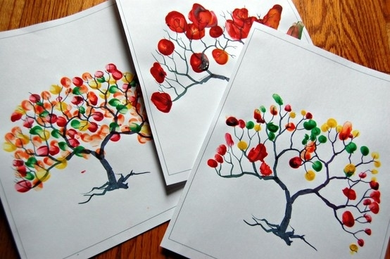 10 Classy Fall Crafts - Fingerprint Tree
