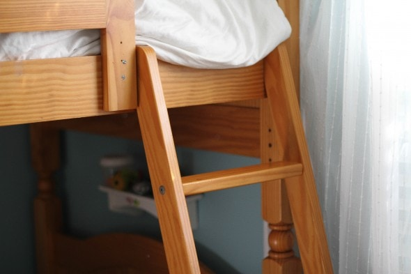straight bunkbed ladder