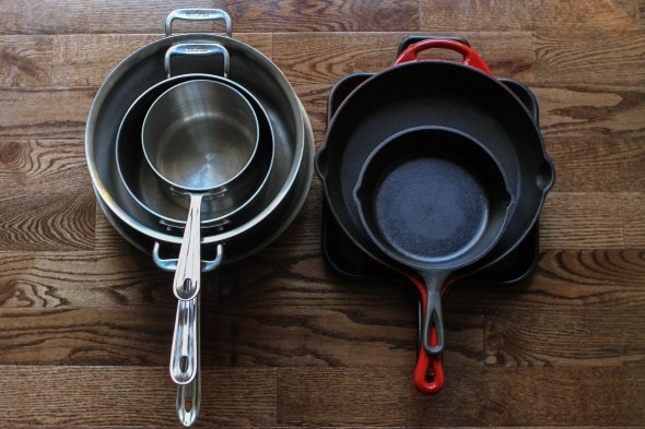 the frugal girl's minimalist cookware