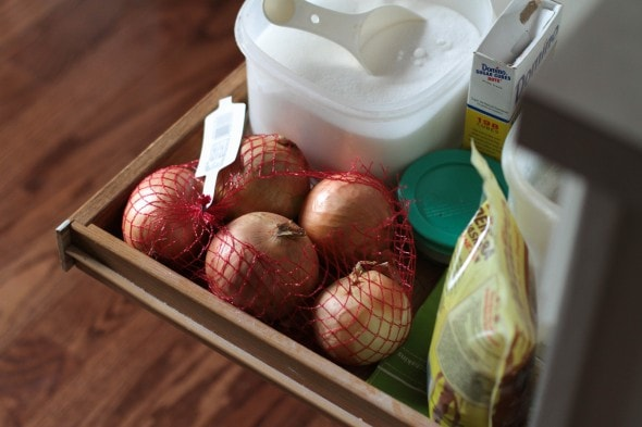 onions in drawer