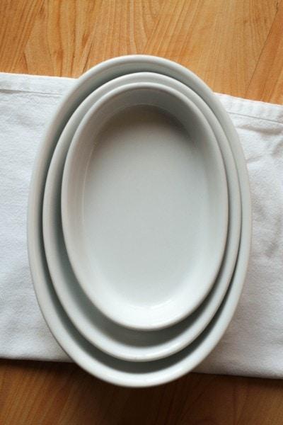 white pier one dish set