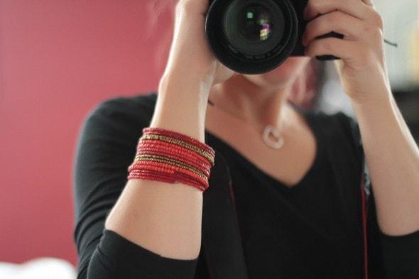 red beaded amani ya juu bracelet