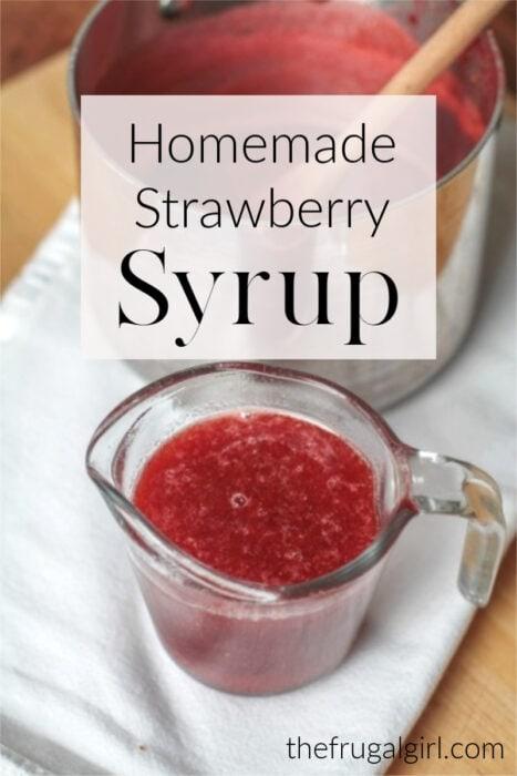 How to make homemade DIY strawberry syrup