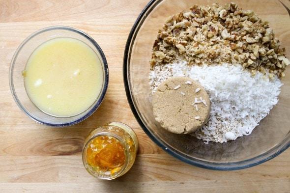 orange granola bar ingredients