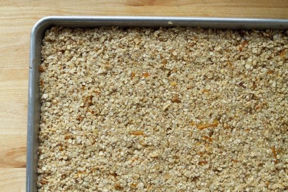granola bars before baking