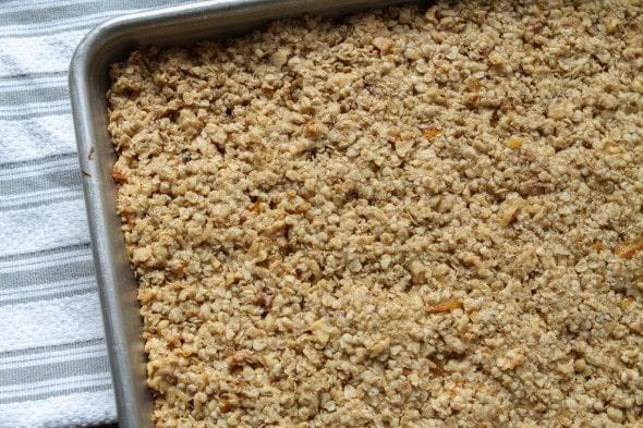 granola bars after baking