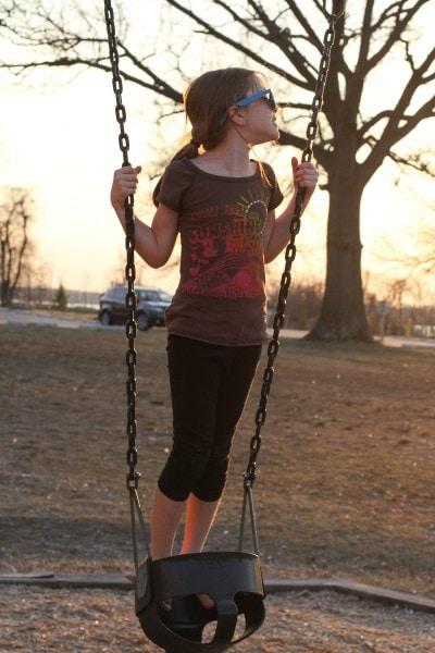 zoe on swing