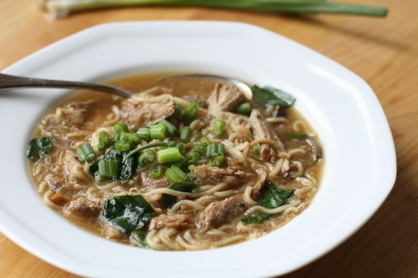 Japanese Pork Ramen soup