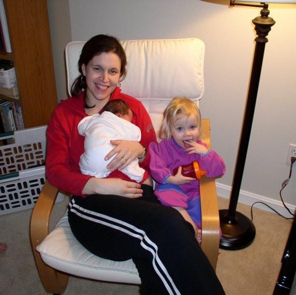 Kristen, Sonia, and baby Zoe