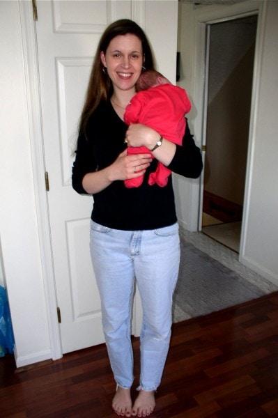 Kristen holding infant Sonia.
