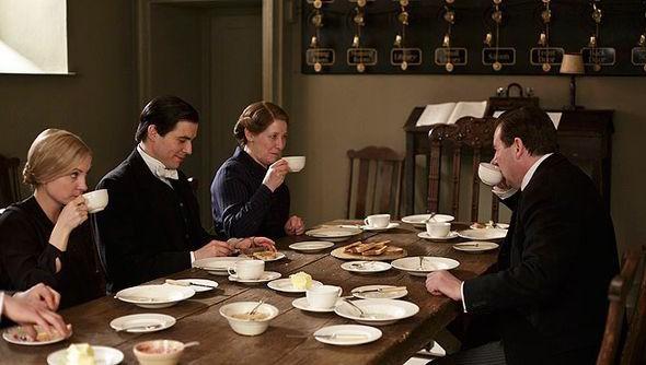 downton abbey servants table