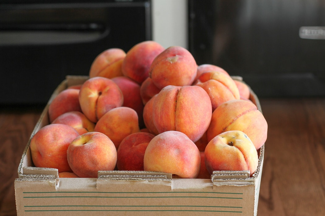 bruised peaches