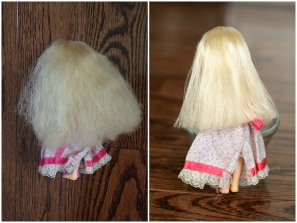 how to fix frizzy doll hair with boiling water