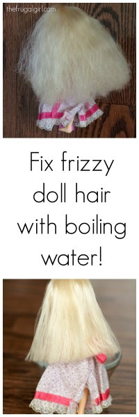how to fix frizzy doll hair