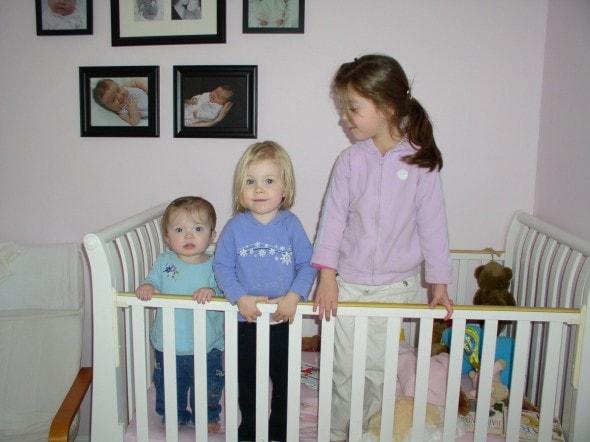 Sonia Zoe Lisey in crib