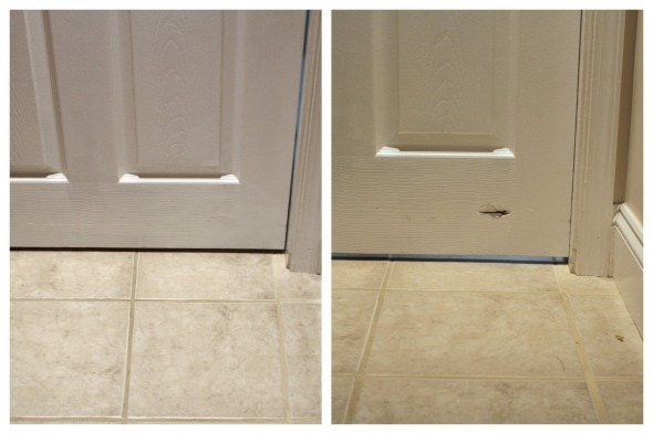 How to fix a hole in a hollow-core interior door
