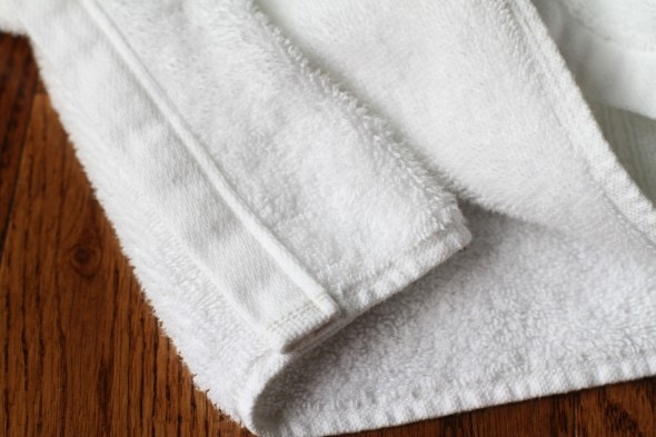 mended hand towel