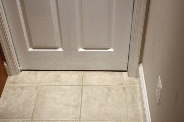 fixed hole in pocket door