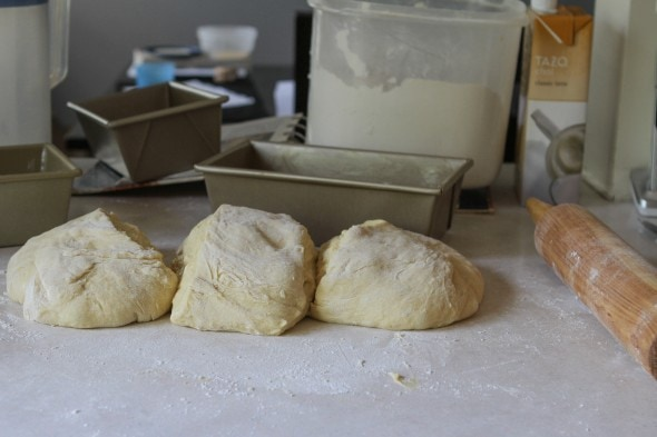 divide dough in three
