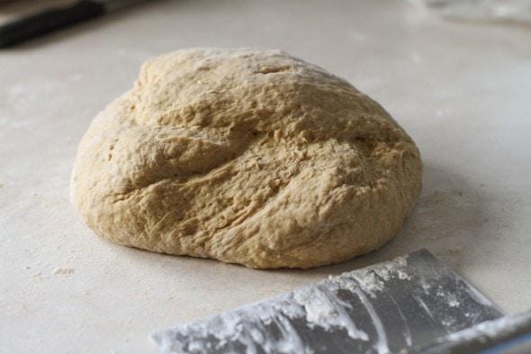kneaded oatmeal bread dough