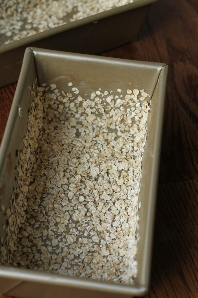 oat coated bread pan