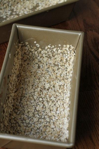 oat coated bread pan