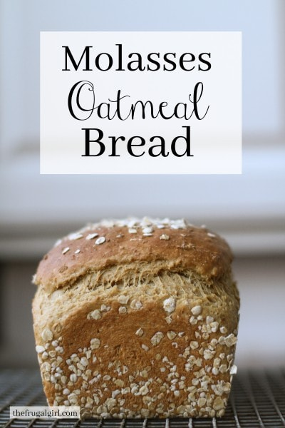 Homemade Molasses Oatmeal Bread