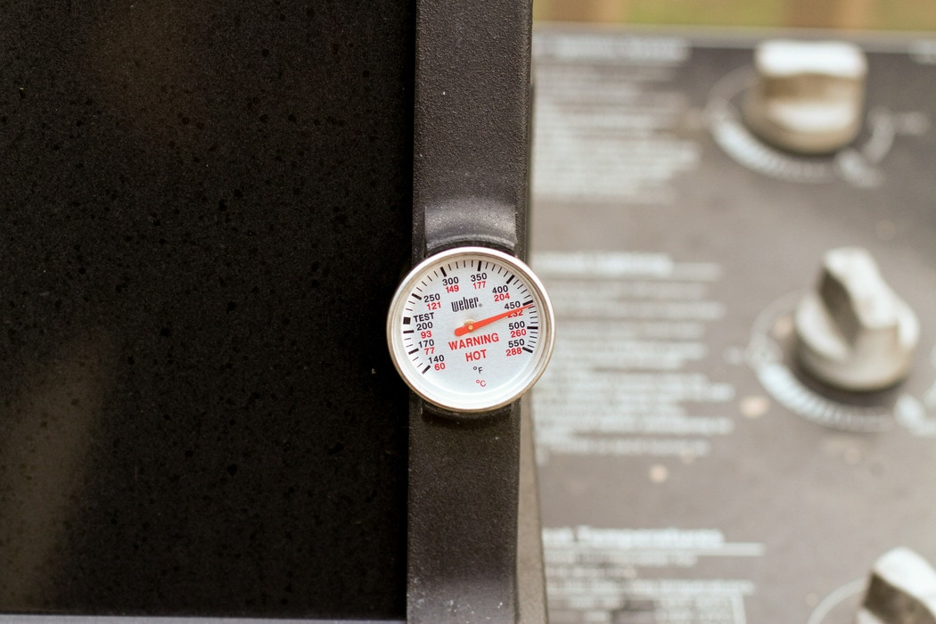 A Weber grill thermometer.