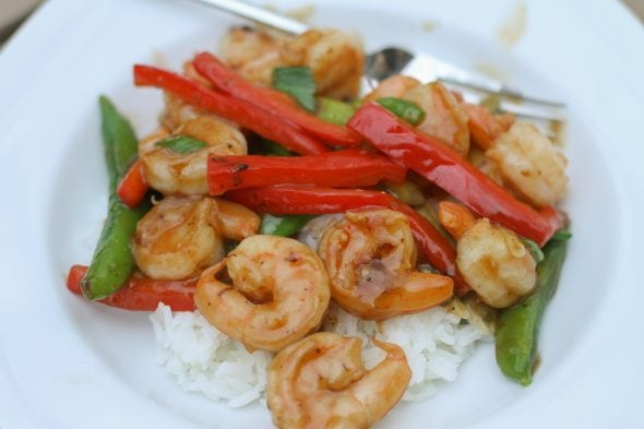 shrimp and red pepper stir fry recipe