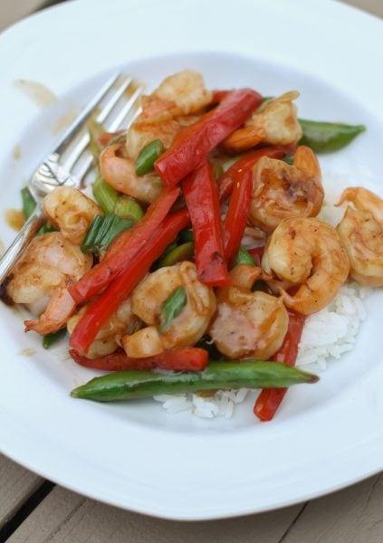 Shrimp and Red Pepper Stir Fry Recipe