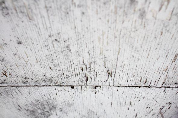 peeling paint on plywood soffit
