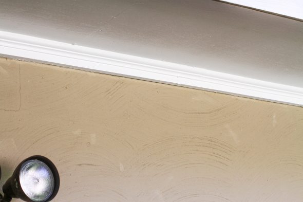 One of my painting projects: Soffit painting - The Frugal Girl