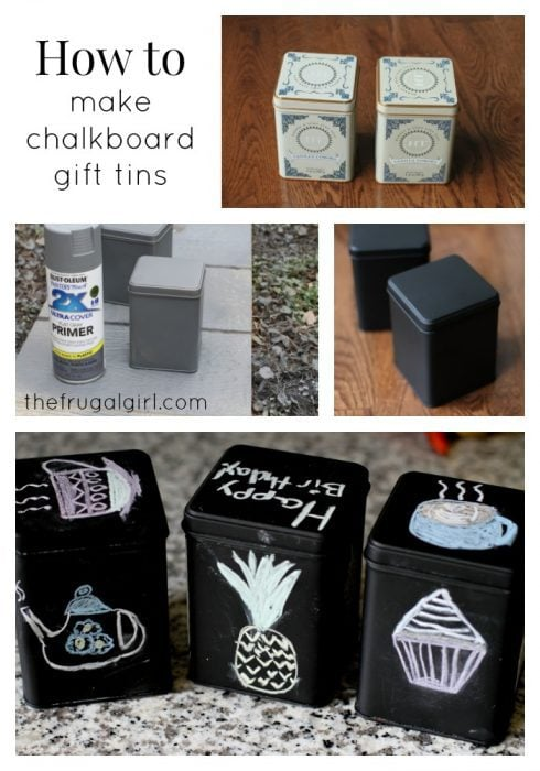 Make gift (or storage) tins from empty metal containers!