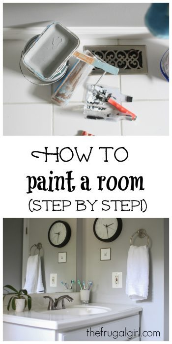 How to paint a room, step by step