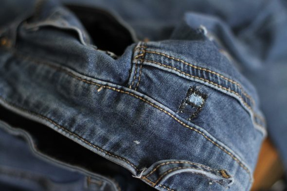 how to patch denim hole