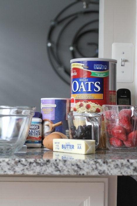 fruity baked oatmeal ingredients