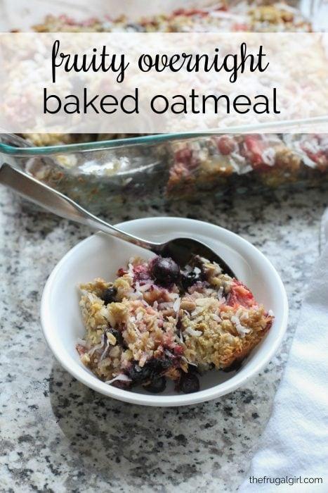 Five Step Fruity Overnight Baked Oatmeal