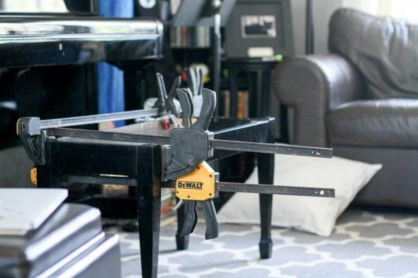 glued piano bench repair