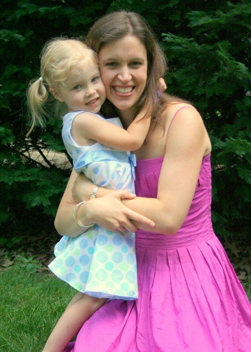 Kristne hugging toddler Sonia