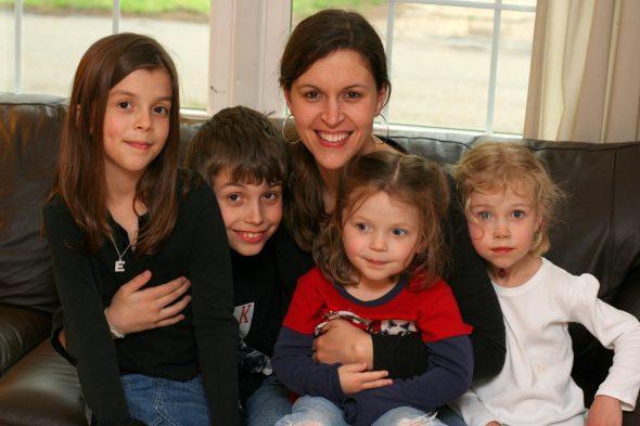 Kristen with her kids