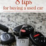 Eight Tips for Buying a Used Car