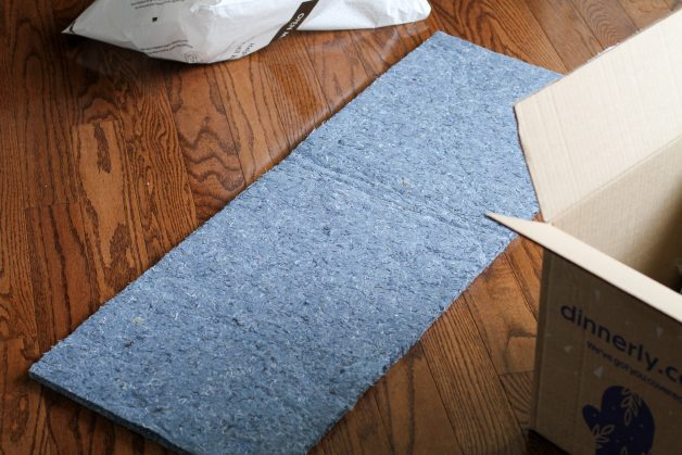 recycle cotton insulation from a Dinnerly box