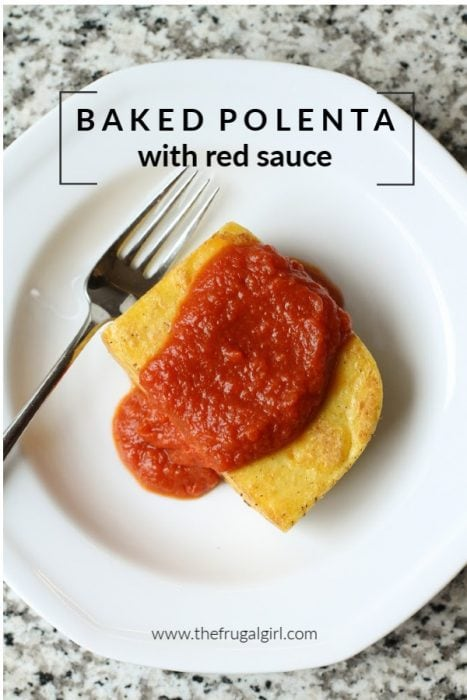 Baked Polenta with Red Sauce